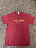 Dub Vendor Reggae Specialist T-Shirt - Maroon / Gold  (Various Sizes)